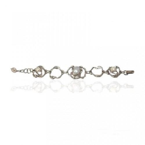 Altana pulsera plata barroca