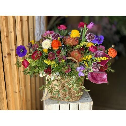 Maxi cesto con flores