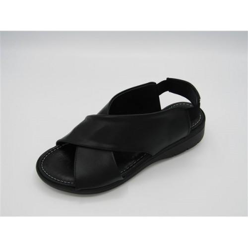 Sandalia ancha negra