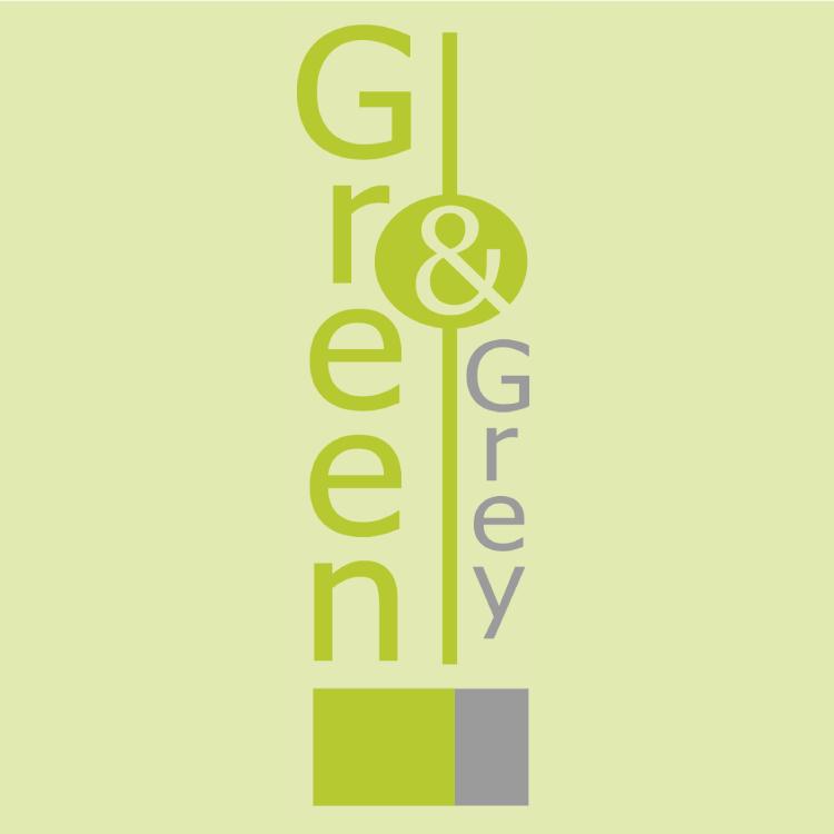 Logotipo Green and Grey