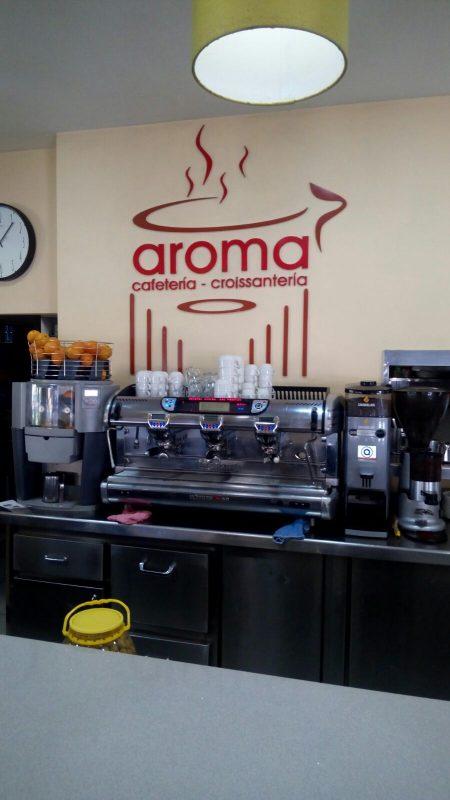 Logotipo Cafetería Croissantería Aroma